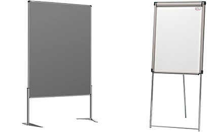 Flipcharts und Whiteboards